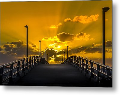 Look Into The Rays Metal Print by Marvin Spates