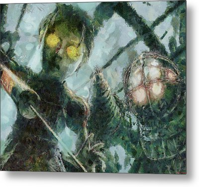 Look Mr Bubbles An Angel Metal Print