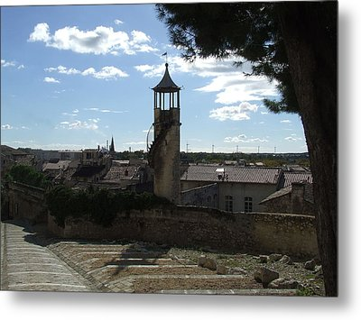 Look Out Tower On The Approach To Beaucaire Castle Metal Print