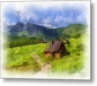Look To The Hills Metal Print by Barbara R MacPhail