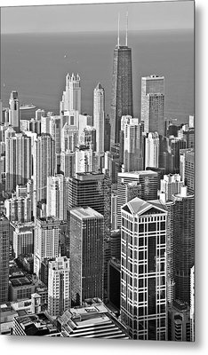 Looking Down At Beautiful Chicago Metal Print