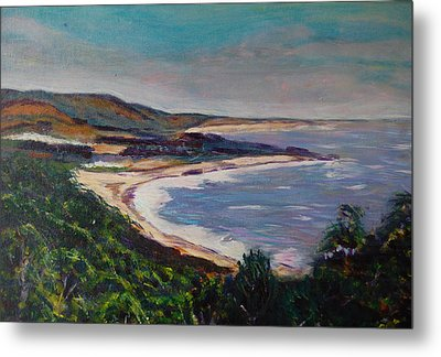 Looking Down On Half Moon Bay Metal Print by Carolyn Donnell