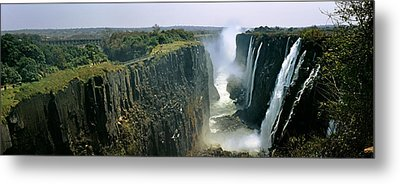 Looking Down The Victoria Falls Gorge Metal Print