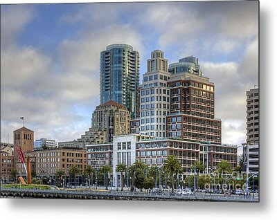 Metal Print featuring the photograph Looking Downtown by Kate Brown