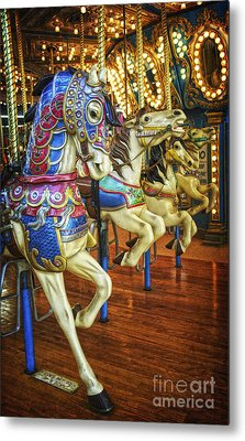 Metal Print featuring the photograph Dancing Horses by Debra Fedchin