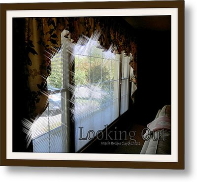 Metal Print featuring the digital art Looking Out by Angelia Hodges Clay
