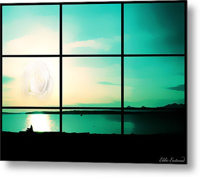 Metal Print featuring the photograph Looking Out My Window by Eddie Eastwood