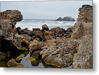 Looking Out On The Pacific Ocean From The Sutro Bath Ruins In San Francisco IIi Metal Print by Jim Fitzpatrick