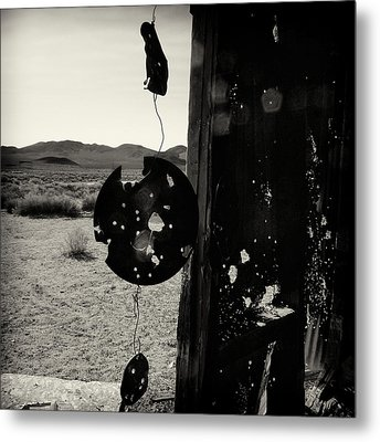 Looking Out The Door Metal Print