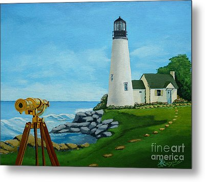 Looking Out To Sea Metal Print by Anthony Dunphy