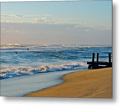 Looking Out To Sea Metal Print by Eve Spring