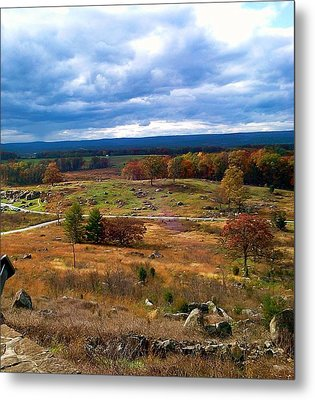 Metal Print featuring the photograph Looking Over The Gettysburg Battlefield by Amazing Photographs AKA Christian Wilson