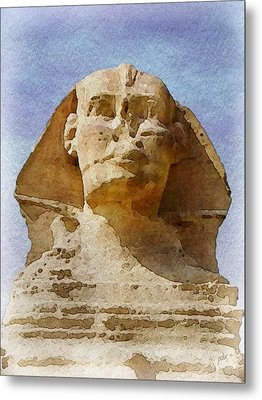 Looking Straight At The Sphinx Metal Print by Philip White