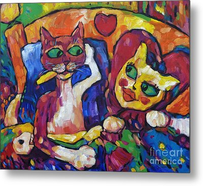 Looking Swell Cats Metal Print by Dianne  Connolly