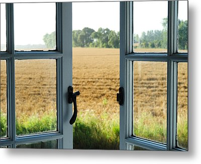 Looking Through A Window Metal Print