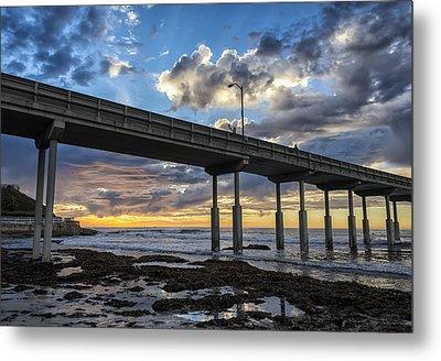 Looking Up At The Ob Pier Metal Print
