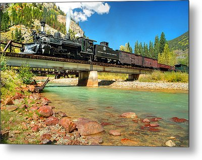 Looking Up From The Riverbed Metal Print by Ken Smith