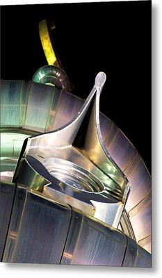 Looking Up On A Minaret Metal Print by Daniel Woodrum