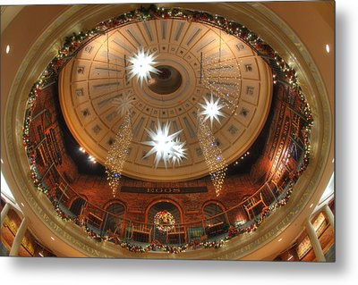 Looking Up - Quincy Market Boston Metal Print by Joann Vitali