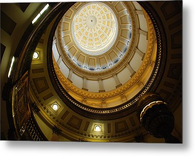 Looking Up The Capitol Dome - Denver Metal Print by Dany Lison