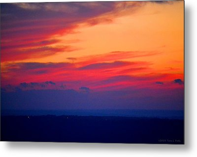 Lookout Mountain Sunset Metal Print by Tara Potts