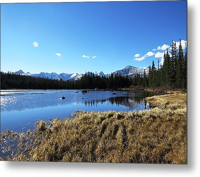 Looming Winter In The Rockies Metal Print