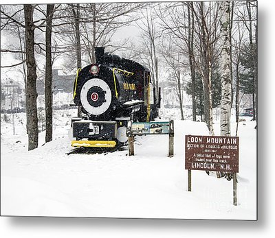 Loon Mountain Train Metal Print