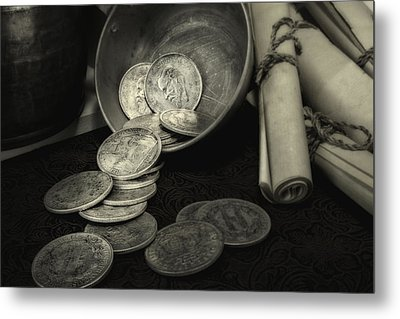 Loose Change Still Life Metal Print by Tom Mc Nemar