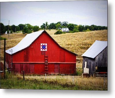 Loose Creek Quilt Barn Metal Print by Cricket Hackmann
