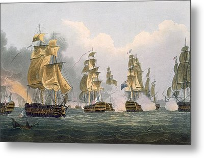 Lord Bridports Action Off Port Lorient Metal Print