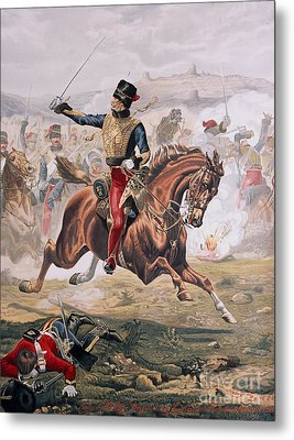 Lord Cardigan Leading The Charge Of The Light Brigade At The Battle Of Balaklava Metal Print
