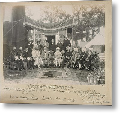 Lord Curzon And The Maharaja Of Patiala Metal Print by British Library