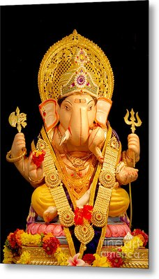 Lord Ganesha Metal Print by Kiran Joshi
