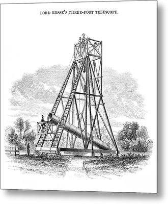 Lord Rosse's 3-foot Telescope Metal Print by Royal Astronomical Society