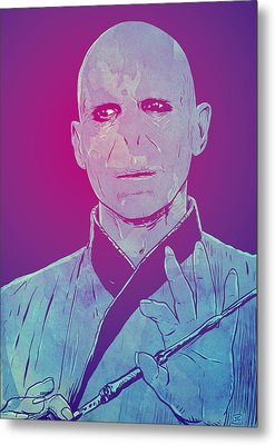 Lord Voldemort Metal Print by Giuseppe Cristiano