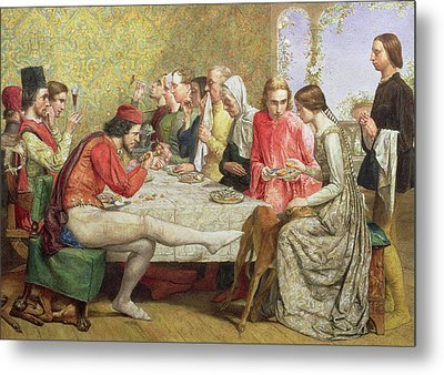 Lorenzo And Isabella Wc On Paper Metal Print by Sir John Everett Millais