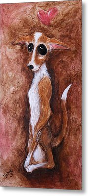 Loretta Chihuahua Big Eyes  Metal Print by Patricia Lintner