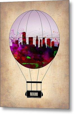 Miami Air Balloon 1 Metal Print by Naxart Studio
