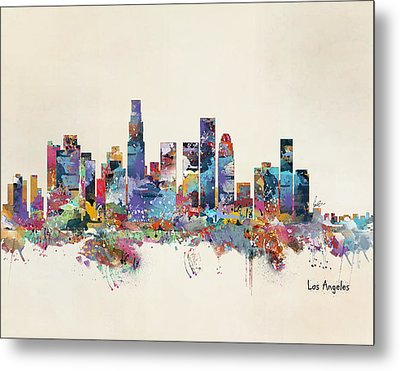 Los Angeles California Skyline Metal Print by Bri B