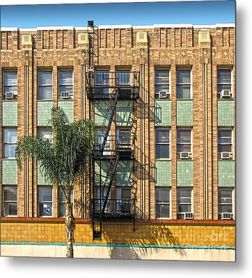 Los Angeles Facade Metal Print by Gregory Dyer