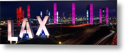 Los Angeles Intl Airport Los Angeles Ca Metal Print by Panoramic Images