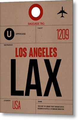 Los Angeles Luggage Poster 1 Metal Print