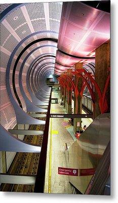 Los Angeles Metro Station Interior. Metal Print