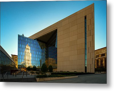 Los Angeles Police Dept Headquarters Metal Print by Celso Diniz