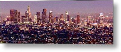 Los Angeles Skyline At Dusk Metal Print by Jon Holiday
