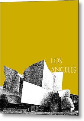 Los Angeles Skyline Disney Theater - Gold Metal Print by DB Artist
