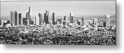 Los Angeles Skyline Panorama Photo Metal Print by Paul Velgos