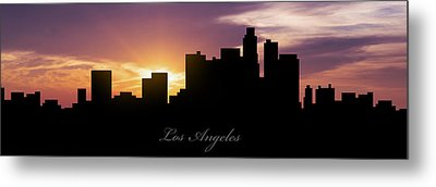 Los Angeles Sunset Metal Print by Aged Pixel