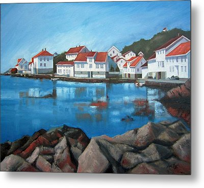 Metal Print featuring the painting Loshavn by Janet King