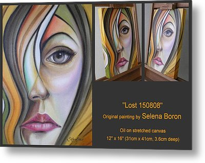Metal Print featuring the painting Lost 150808 by Selena Boron
